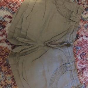 Forever 21 Khaki Cargo Shorts